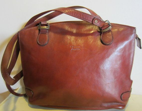 Vintage French Leather Shoulder Bag Texier France