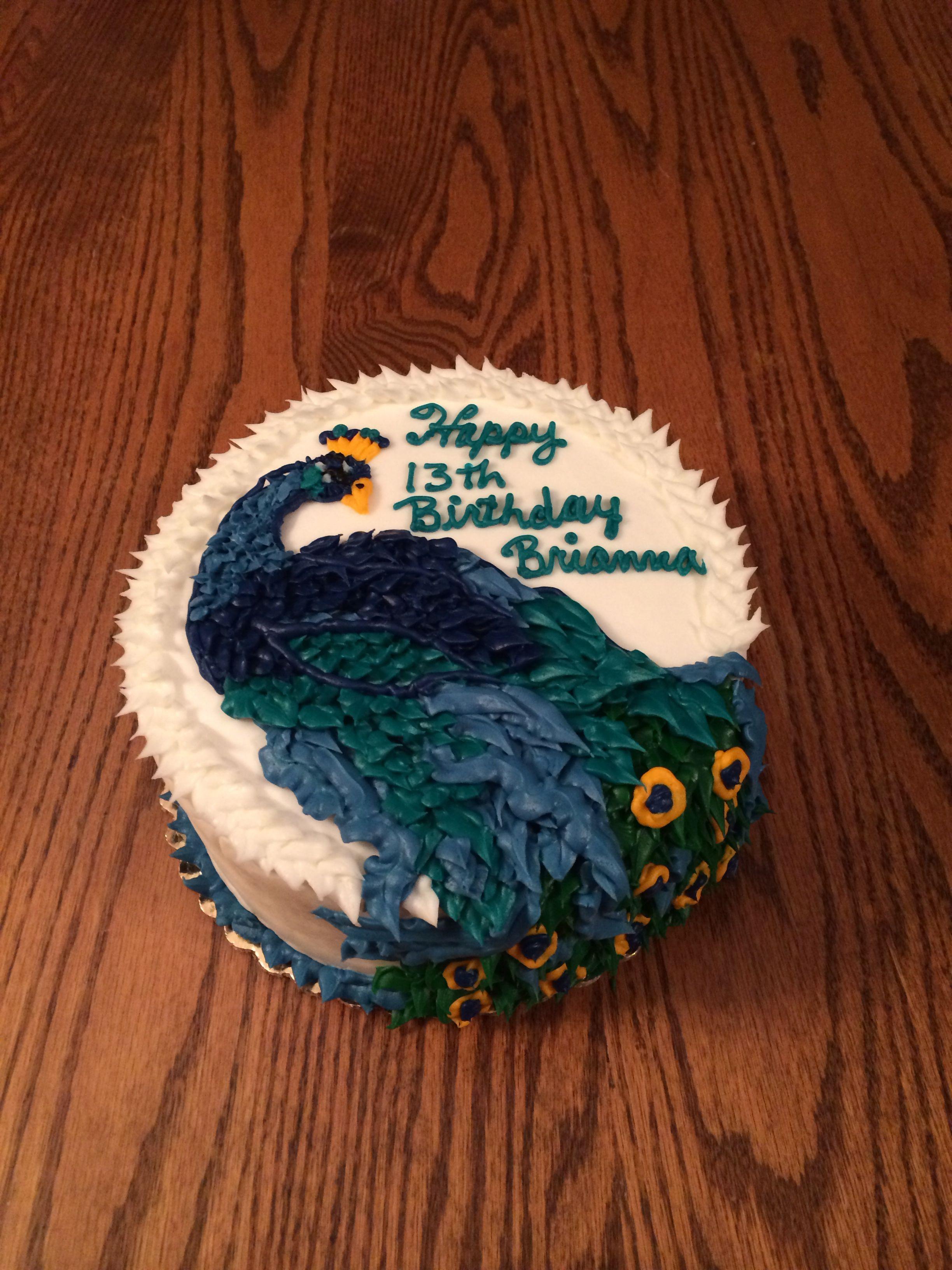 Peacock Birthday Cake Price Cutter Bakery