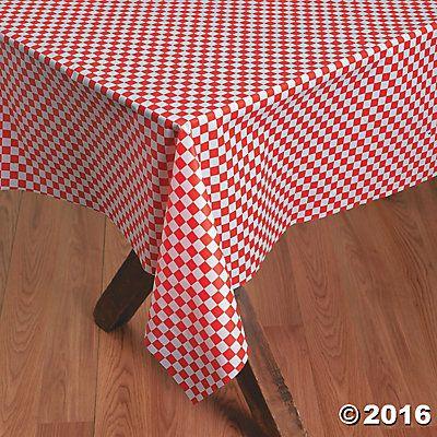 Unique Plastic Checkered Tablecloth