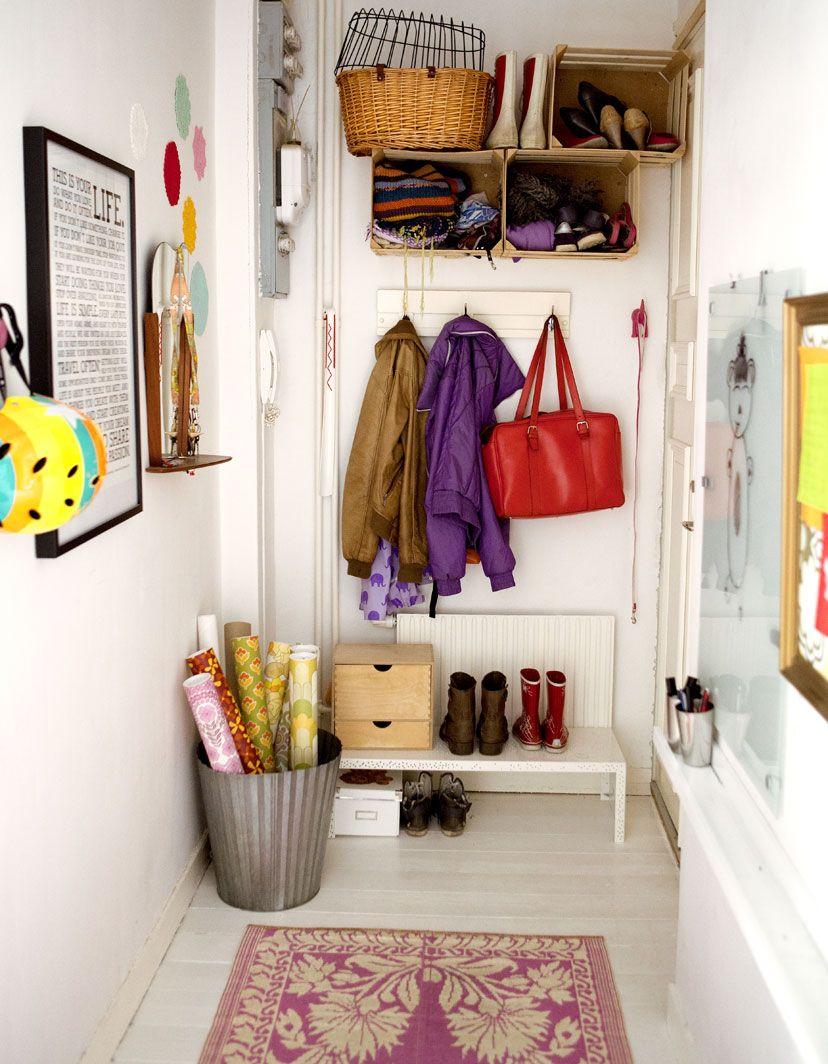 Hallway wall storage  Hallway storage Inspired by IKEA  Tiny Apartments  Pinterest