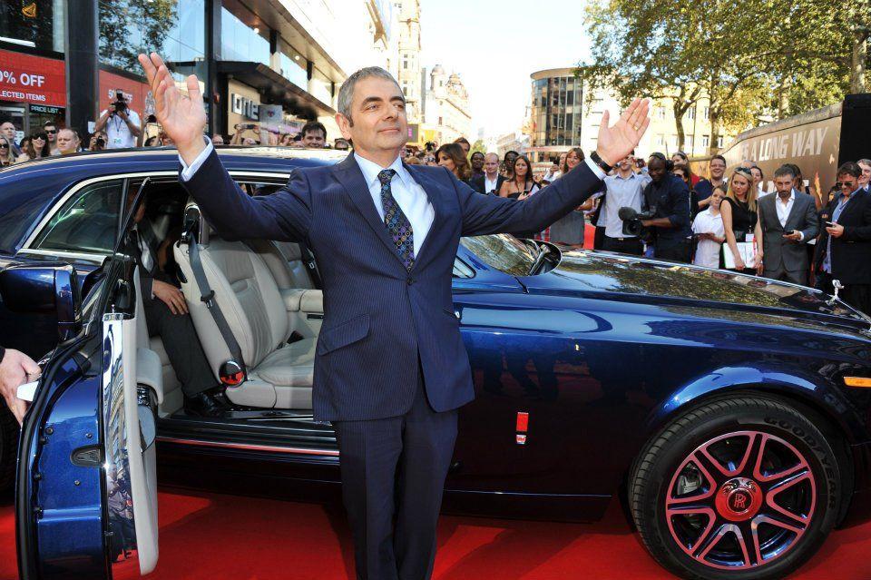 Rowan Atkinson Poses Near A One Off Rolls Royce V16 Experimental