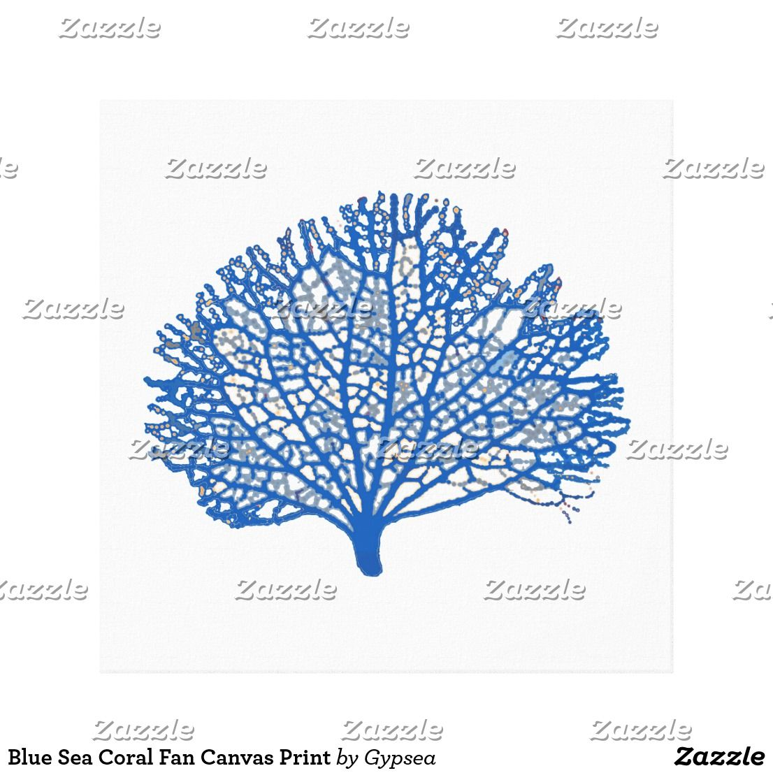 Blue Sea Coral Fan Canvas Print