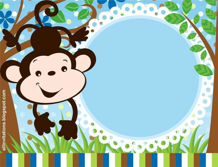 monkey border monkey birthday party pinterest monkey clip art rh pinterest co uk free baby boy shower clip art borders free baby boy shower clip art borders