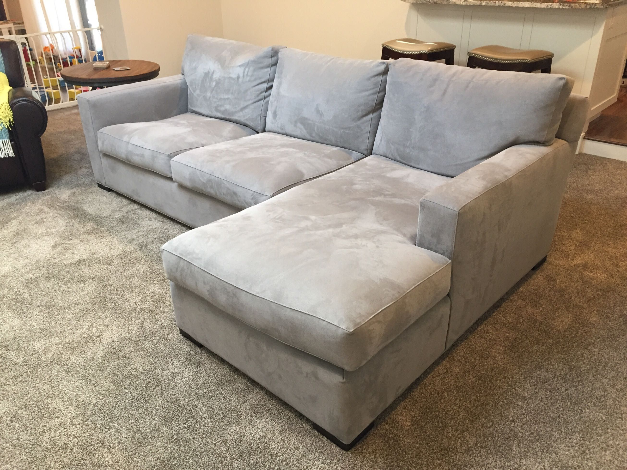 Crate Barrel Axis Ii 2 Piece Sectional Sofa In Nickel Paid Full