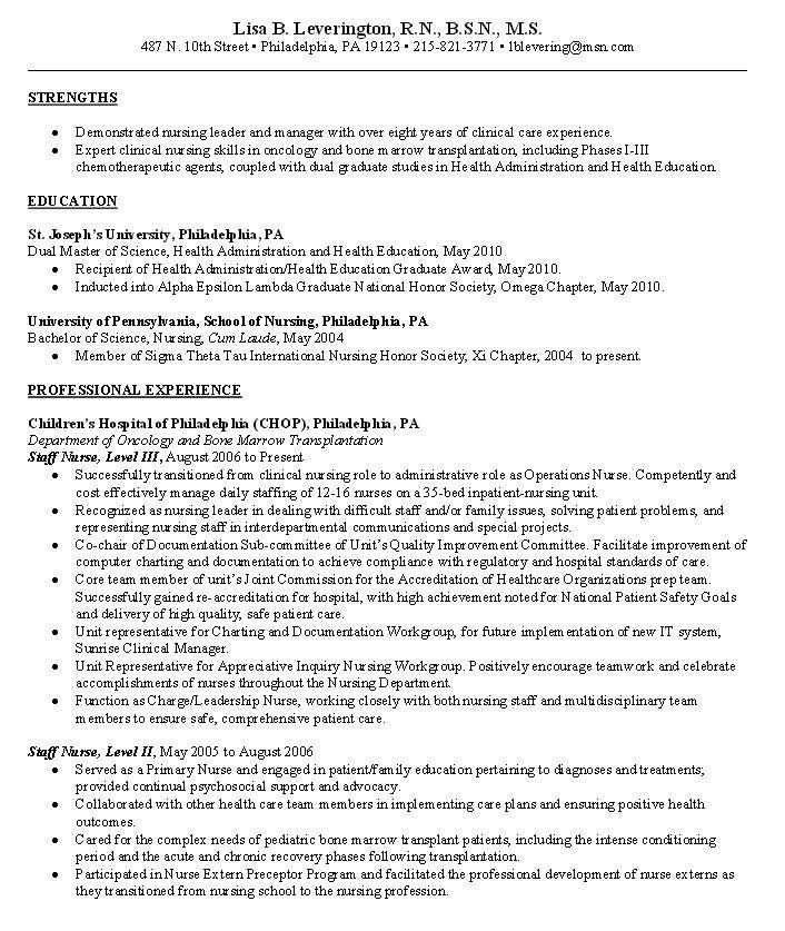Resume For Oncology Nurse Practitioner Resumesdesign Oncology Nursing Nursing Resume Oncology