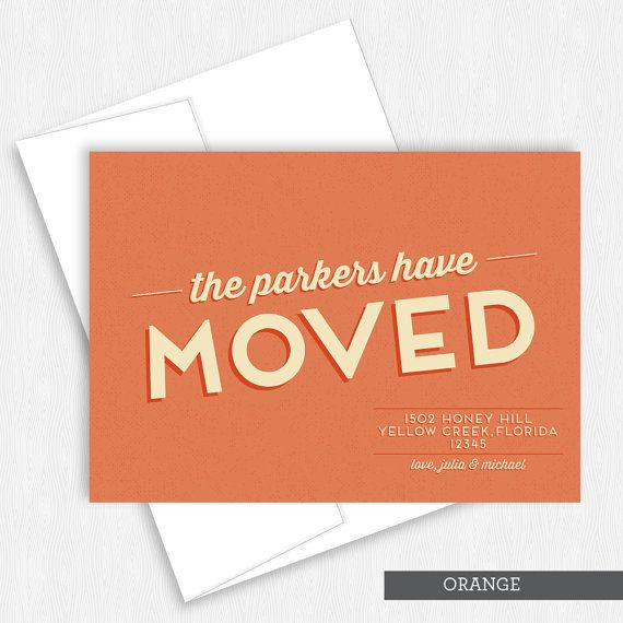 We Moved Ve Retro Moving Card