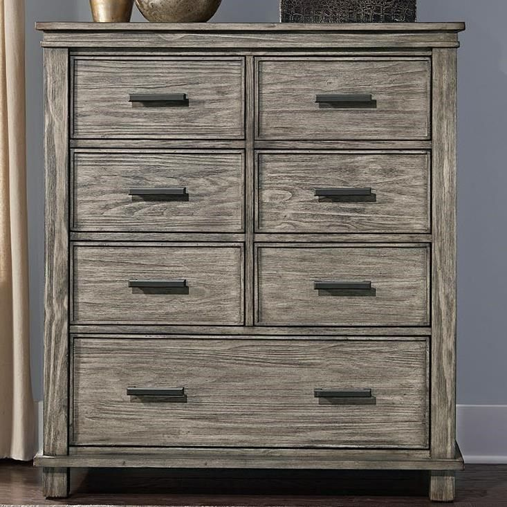 Glacier Point Transitional Solid Wood 7 Drawer Chest With