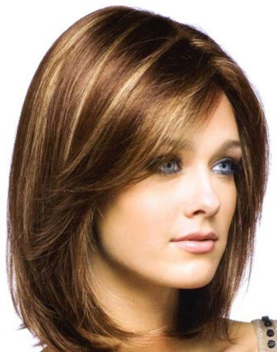 30 Beautiful Medium Hairstyles For Round Faces You Should Try Haircuts For Medium Hair Medium Hair Styles For Women Medium Hair Styles