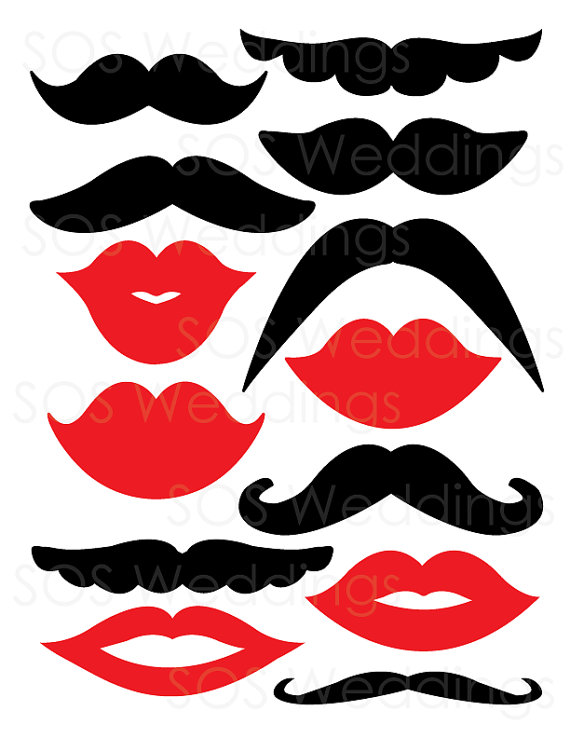 picture relating to Printable Mustache and Lips identified as photobooth props, marriage photobooth, mustaches and lips