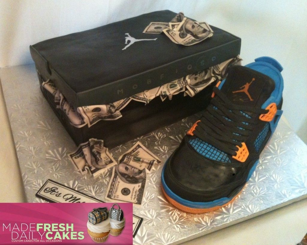 Air Jordan 4 Cavs Sneaker Cake KicksOnFirecom Creations