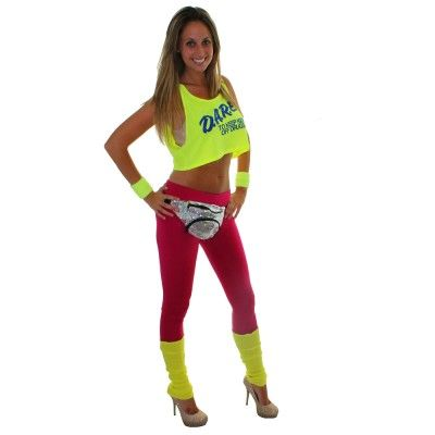 c54c84af700ed DARE Neon Yellow Tank Top.  24.95.