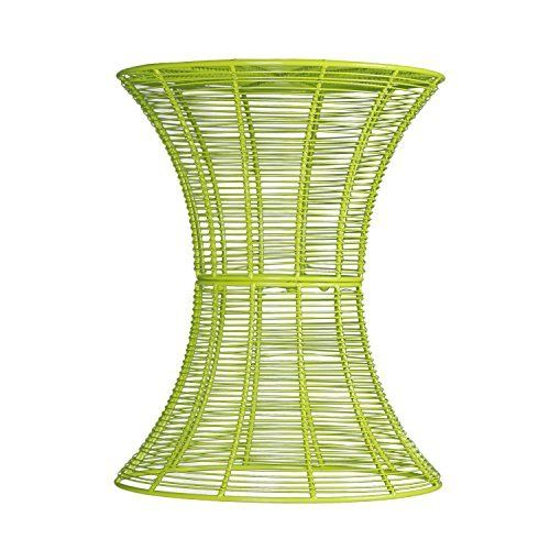 Adeco Accent Round Starburst End/ Side/ Tea Table Iron Wire Weave Netting For Outdoor Garden Patio