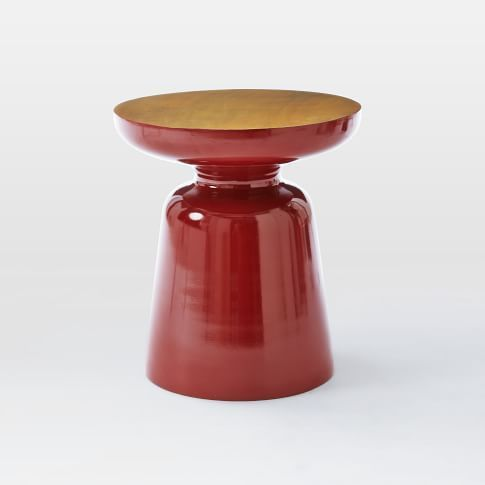 Martini Side Table Two Tone Paprika Antique Brass Side Table Modern Home Furniture Image Furniture