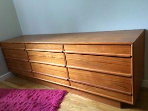 Large Teak Wood Dresser Dressers