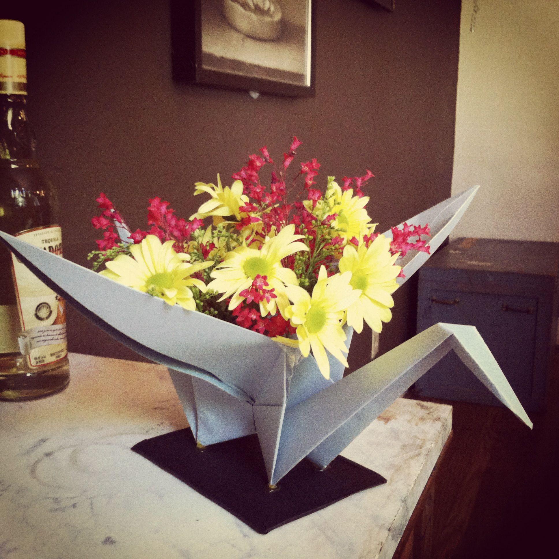 Origami flower arrangement for Japanesethemed baby shower
