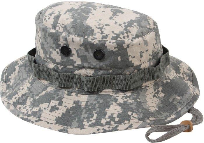 ACU Digital Camouflage Military Rip-Stop Wide Brim Boonie Hat  07911668897