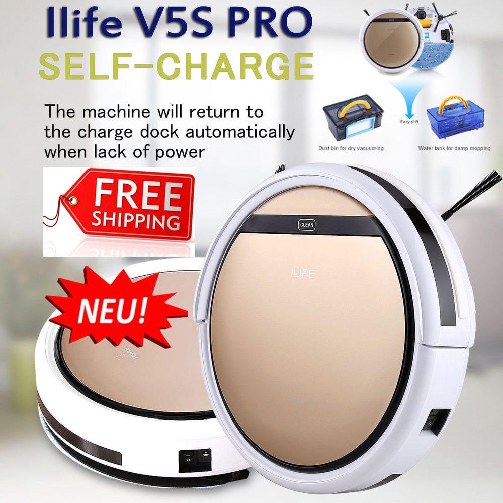 ILIFE V8S Staubsauger Saugroboter Roboter Reinigun Vacuum Cleaner LCD Display