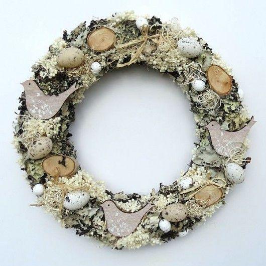 Wianek Z Ptaszkami Pakamera Pl Handmade Wreaths Easter Wreaths Wreaths