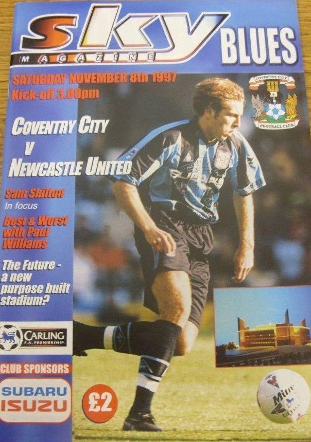 8 November 1997 v Newcastle United Drew 2-2