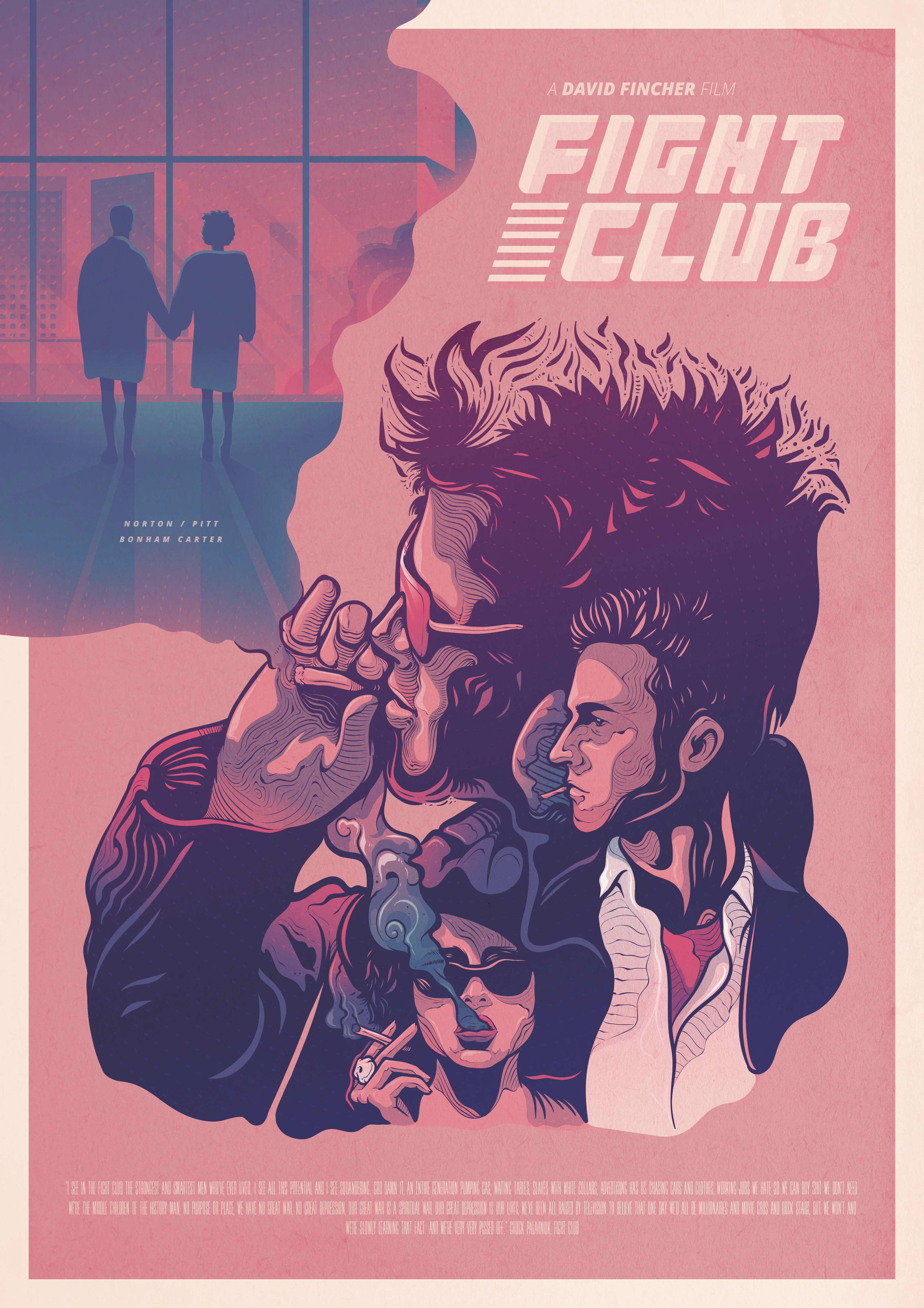"18/"" x 12/"" NUOVO Giclee art print poster Fight Club Film"