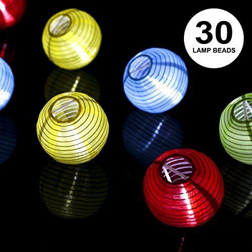 ProGreen Lanterne Guirlande Solaire Guirlande Lumineuse 30 LED 6 5