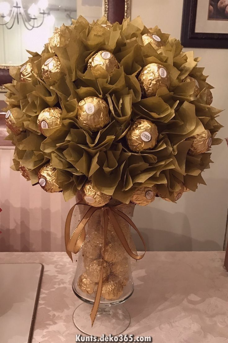 50 anniversary #50anniversary Schne Ferrero Rocher DIY Herzstck #prsentkorbideen Schne Ferrero Rocher DIY Herzstck  #ferrero #herzstuck #rocher #Schne