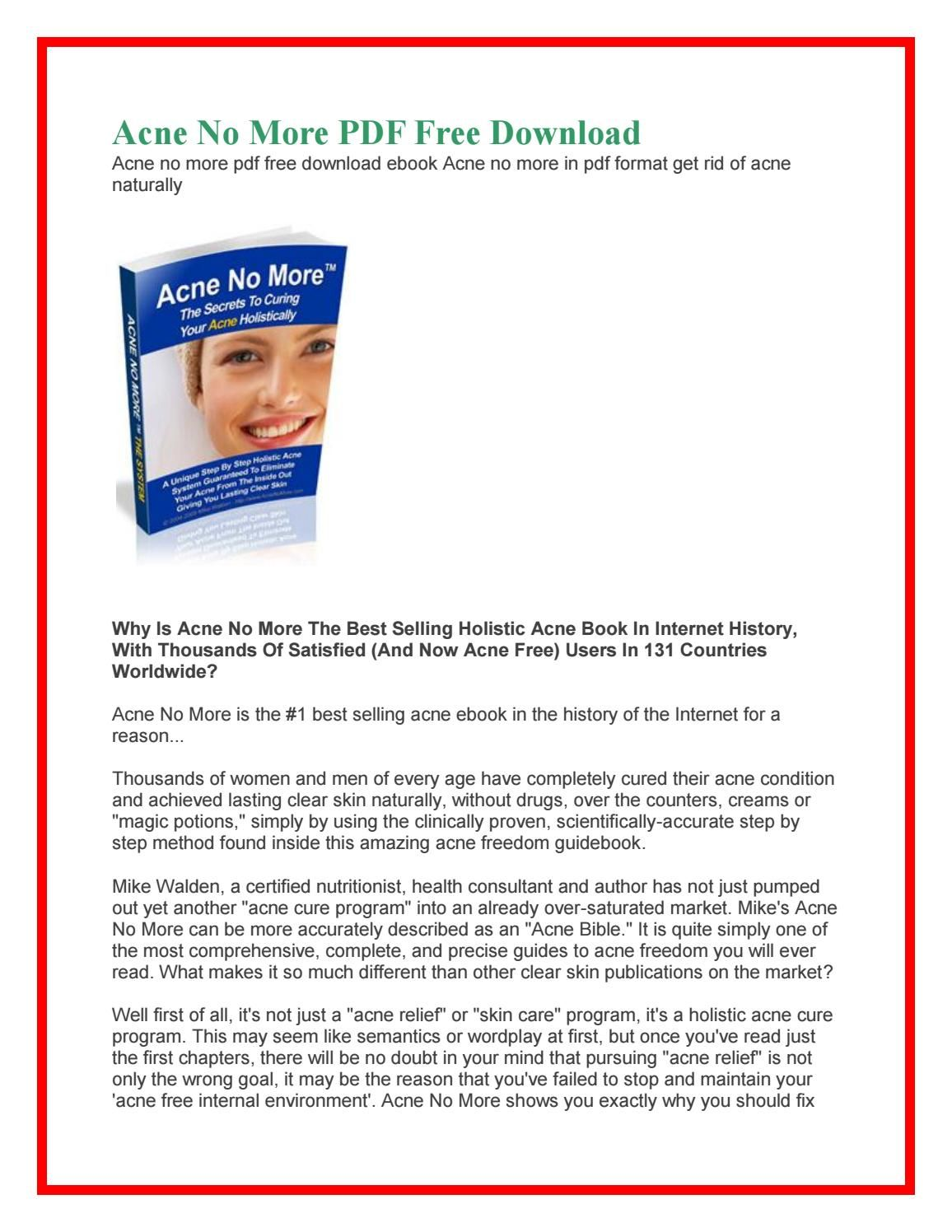 Acne No More Book For