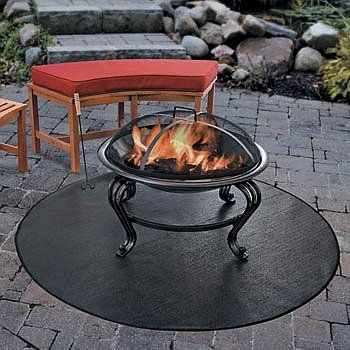Improvements Firepit Grill Mat 54 Round Fire Pit Patio Portable Fire Pits