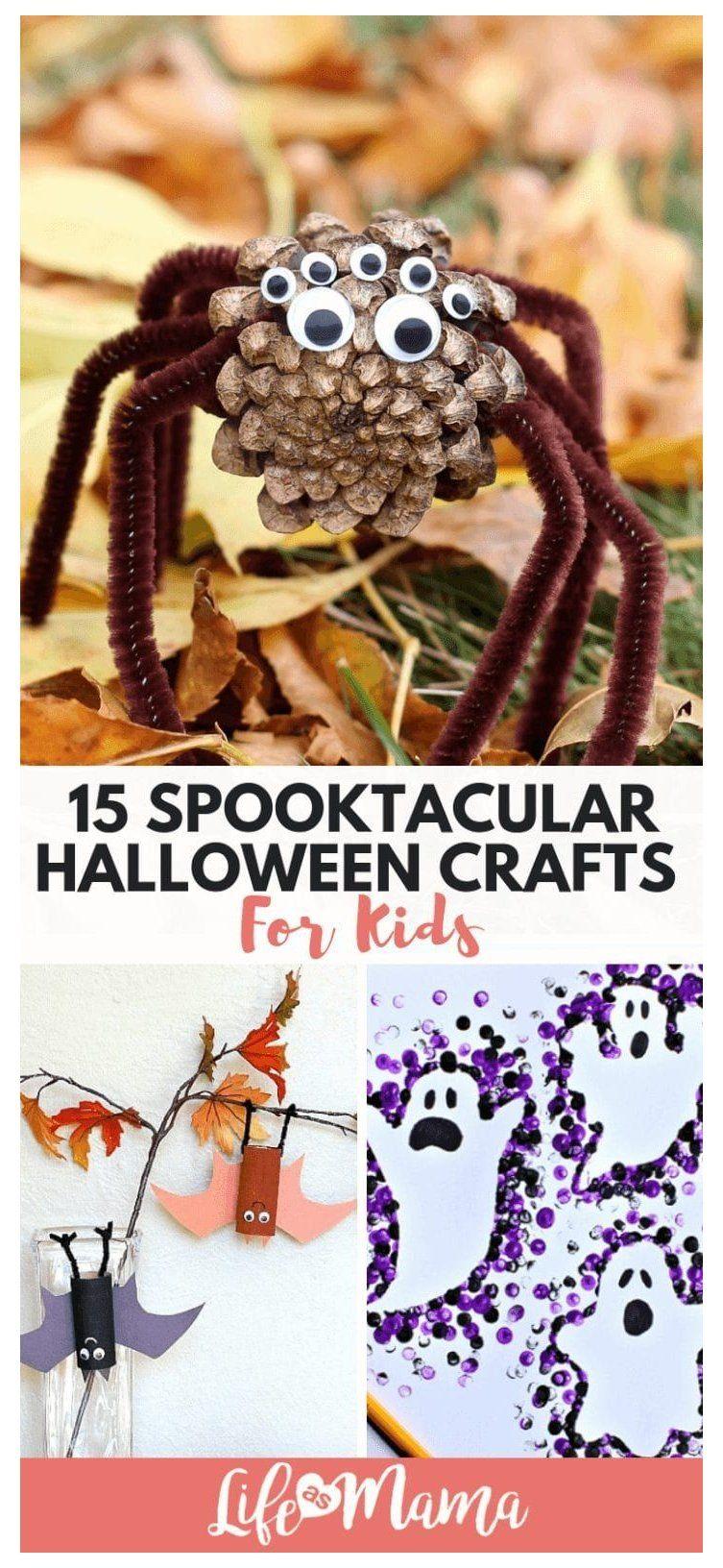 15 Spooktacular Halloween Crafts For Kids #halloweencrafts