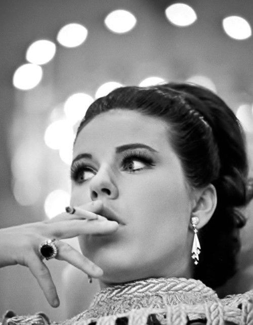 "Twenty-one year old Patty (Anna) Duke takes a smoke break on the set of ""Valley of the Dolls"", 1967"