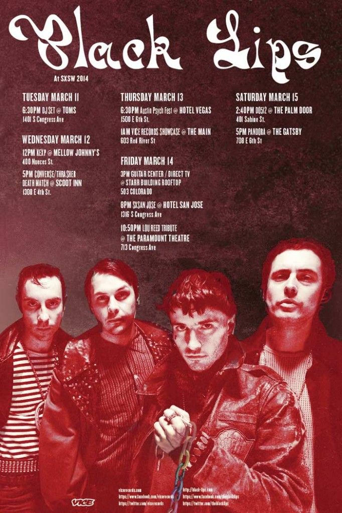 Black Lips schedule at SXSW Black lips, Black, Lips