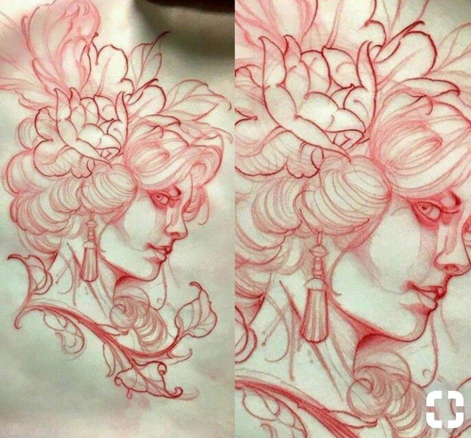 Bestfemaletattoos Flower Tattoo Drawings Sketches Tattoo Illustration