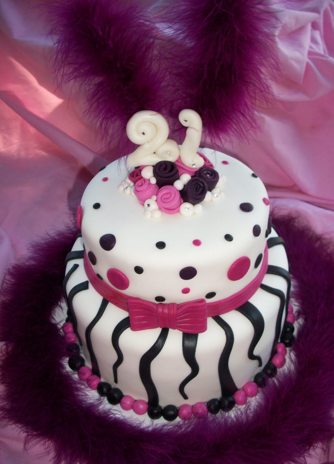 Outstanding Two Tier 21St Birthday Cake Created By Sweet Pea Cake Co In Funny Birthday Cards Online Necthendildamsfinfo