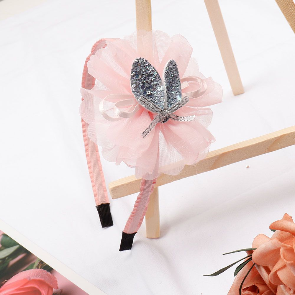Apparel Accessories Girl's Accessories 2019 Latest Design Korea Ribbon Bunny Hair Bands Rabbit Ears Hairband Flower Crown Headbands For Girls Hair Bows Hair Accessories