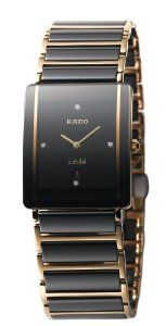 Rado Men's R20282712 Integral Watch Rado. $1995.00. Sapphire crystal. Water-resistant to 99 feet (30 M). Precise Swiss-Quartz movement. Ceramic case; Black dial; Date function