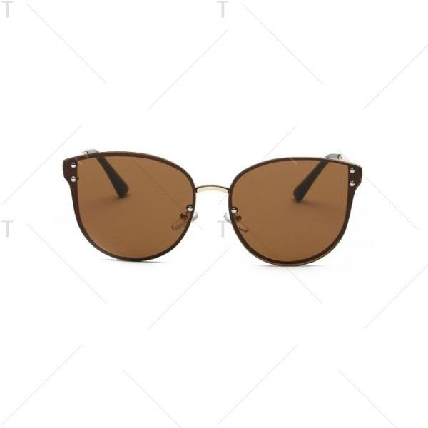 Stylish Frameless Oversized Sunglasses Coffee ($7.29) ❤ liked on Polyvore featuring accessories, eyewear, sunglasses, coffee glasses, oversized eyewear, oversized glasses, over sized sunglasses and oversized sunglasses