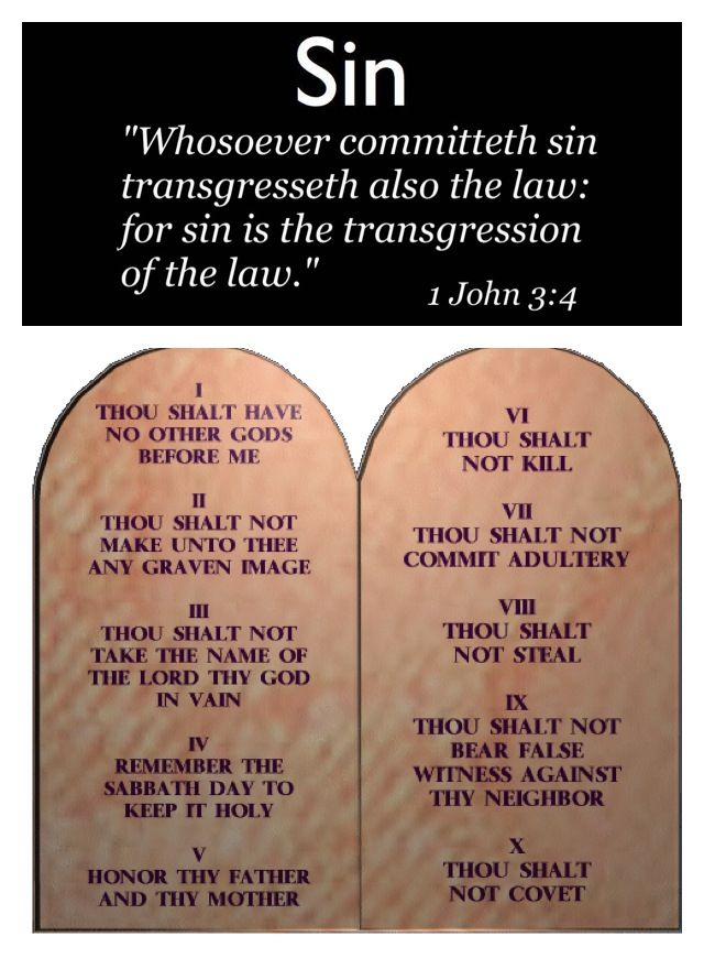 "What is sin? Well the Bible says in 1 John 3:4 ""Whosoever committeth sin transgresseth also the law: for sin is the transgression of the law. Breaking God's law is sin."