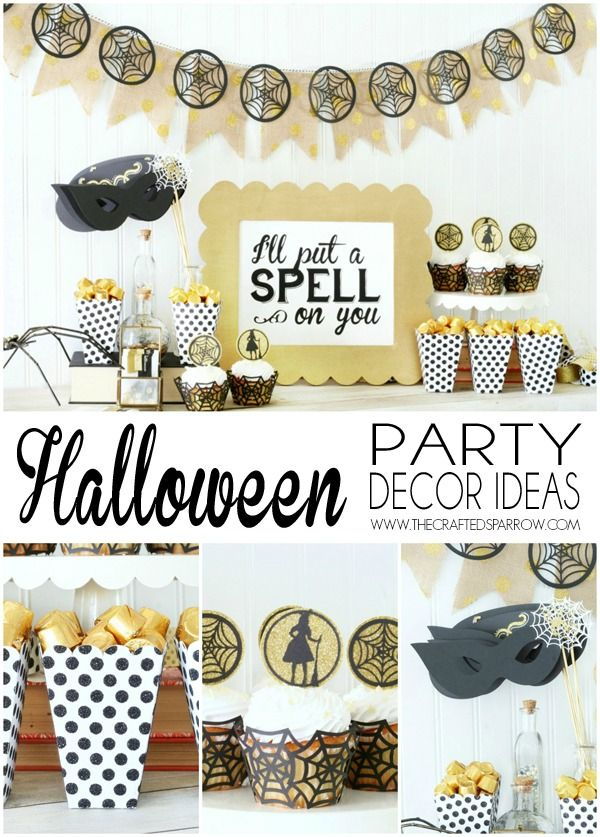 Easy Halloween Party Decor Ideas Halloween party decor, Easy - halloween party centerpieces ideas