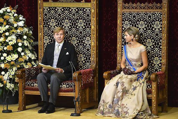 King Willem-Alexander and Queen Maxima at Prinsjesdag 2015