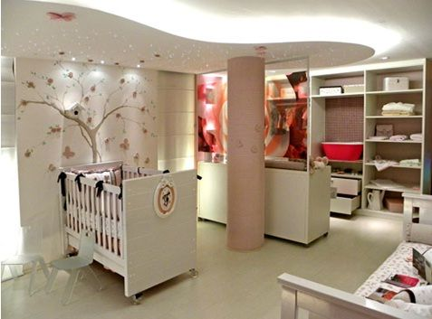 dormitorio rosa y blanco con originales detalles - Habitaciones De Bebe Originales