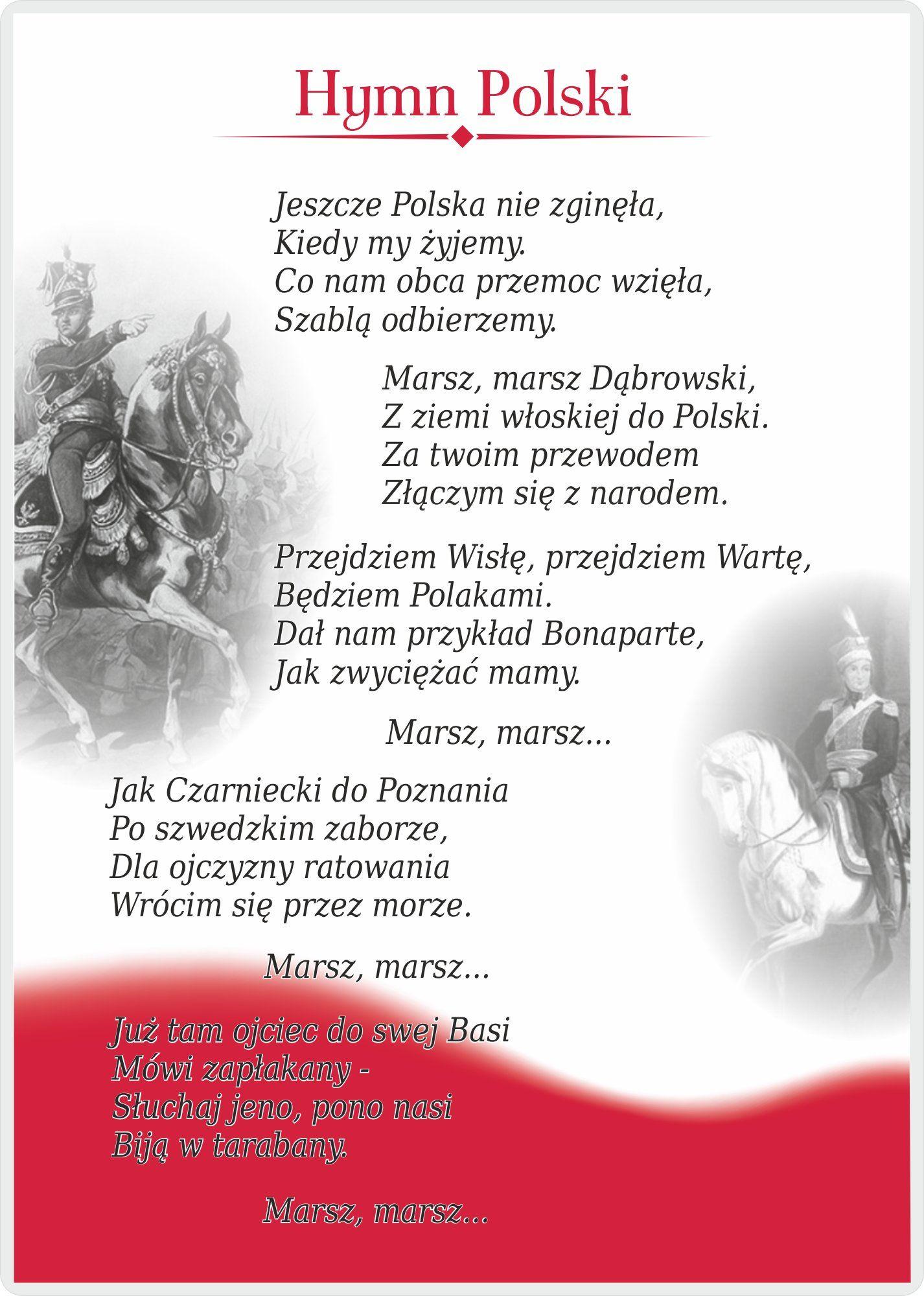 Kup Teraz Na Allegro Pl Za 4 00 Zl Edutab Hymn Polski Tablica Edukacyjna A4 6997264043 Allegro Pl Radosc Za Polish Language Polish Ancestry Learn Polish