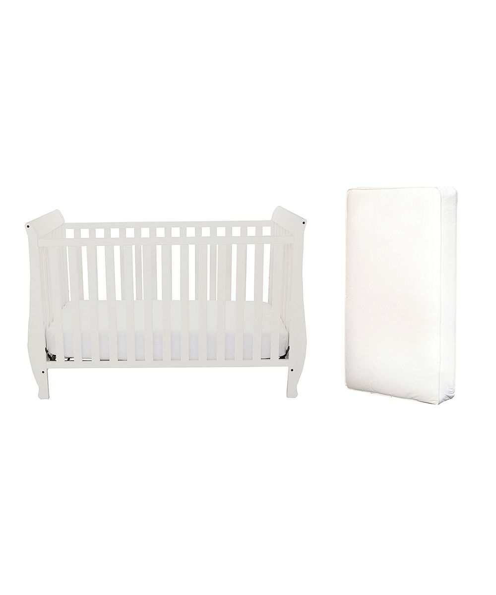 white naomi convertible crib & mattress set | products | crib