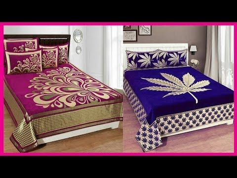 Top Beautiful Designers Bed Sheet Designs Bridal Bed Sheet Designs
