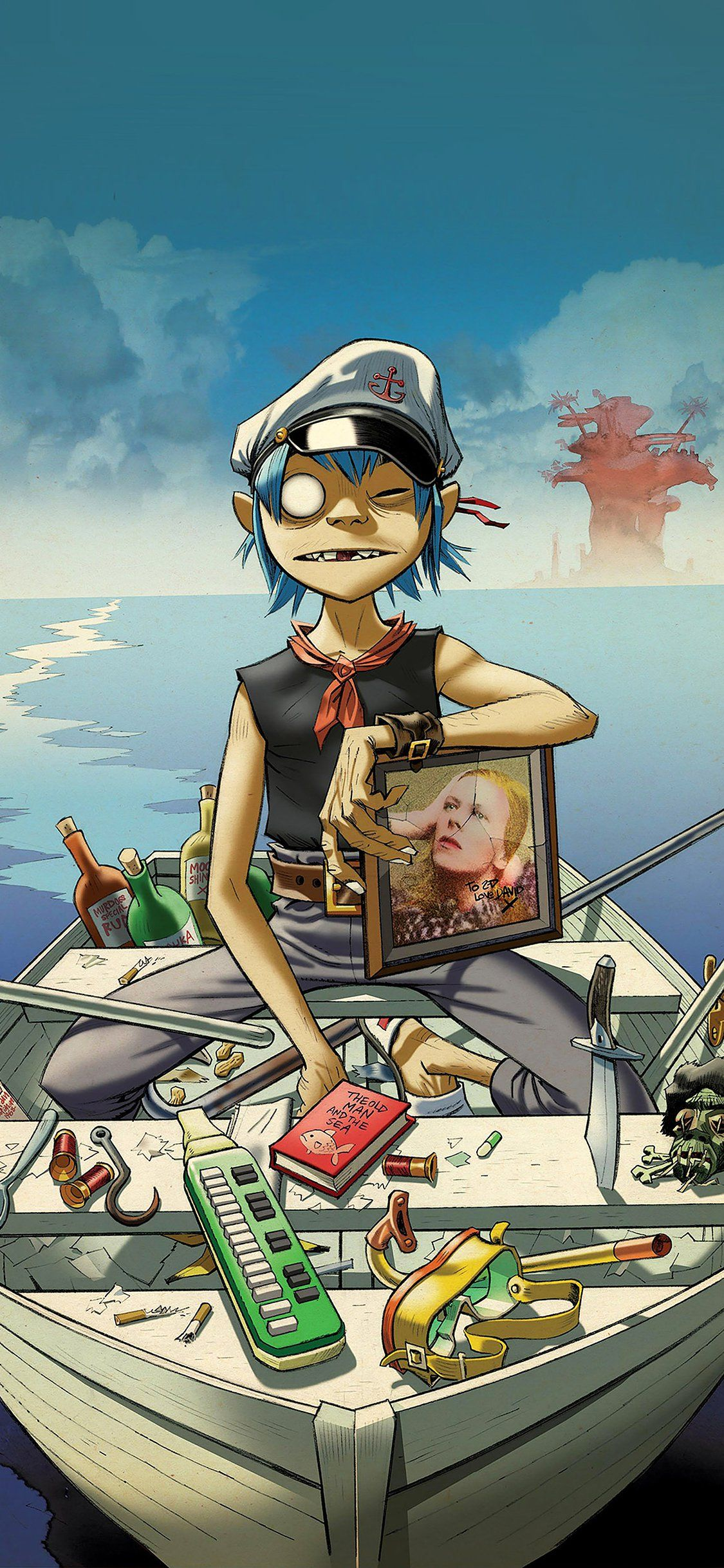 Gorillaz boat music iPhone X Wallpapers in 2020 Gorillaz