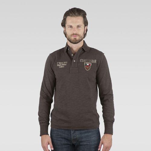 #marinamilitaresportswear #newcollection #FW2014 #menfashion #polo #patch #brown #instapic #style #fashionblogger #photooftheday #sportswear #golook #igersitalia #follow