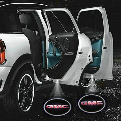 2 X 5th Gen Car Door Shadow Laser Projector Logo Led Light For Gmc
