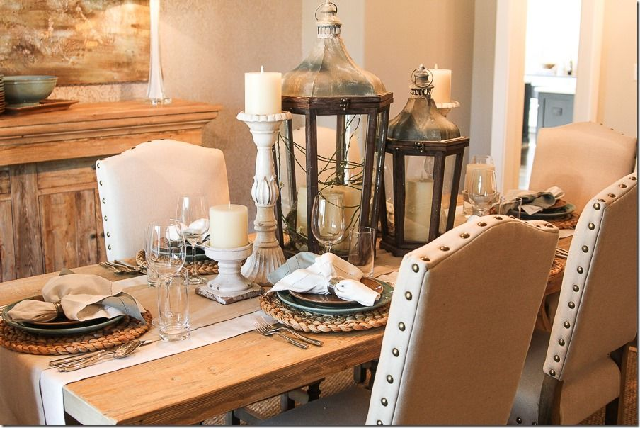 2014 Birmingham Parade Of Homes Ideal Home 6 Of 32 Dining Room Table Centerpieces Dining Room Centerpiece Dining Room Table Lanterns