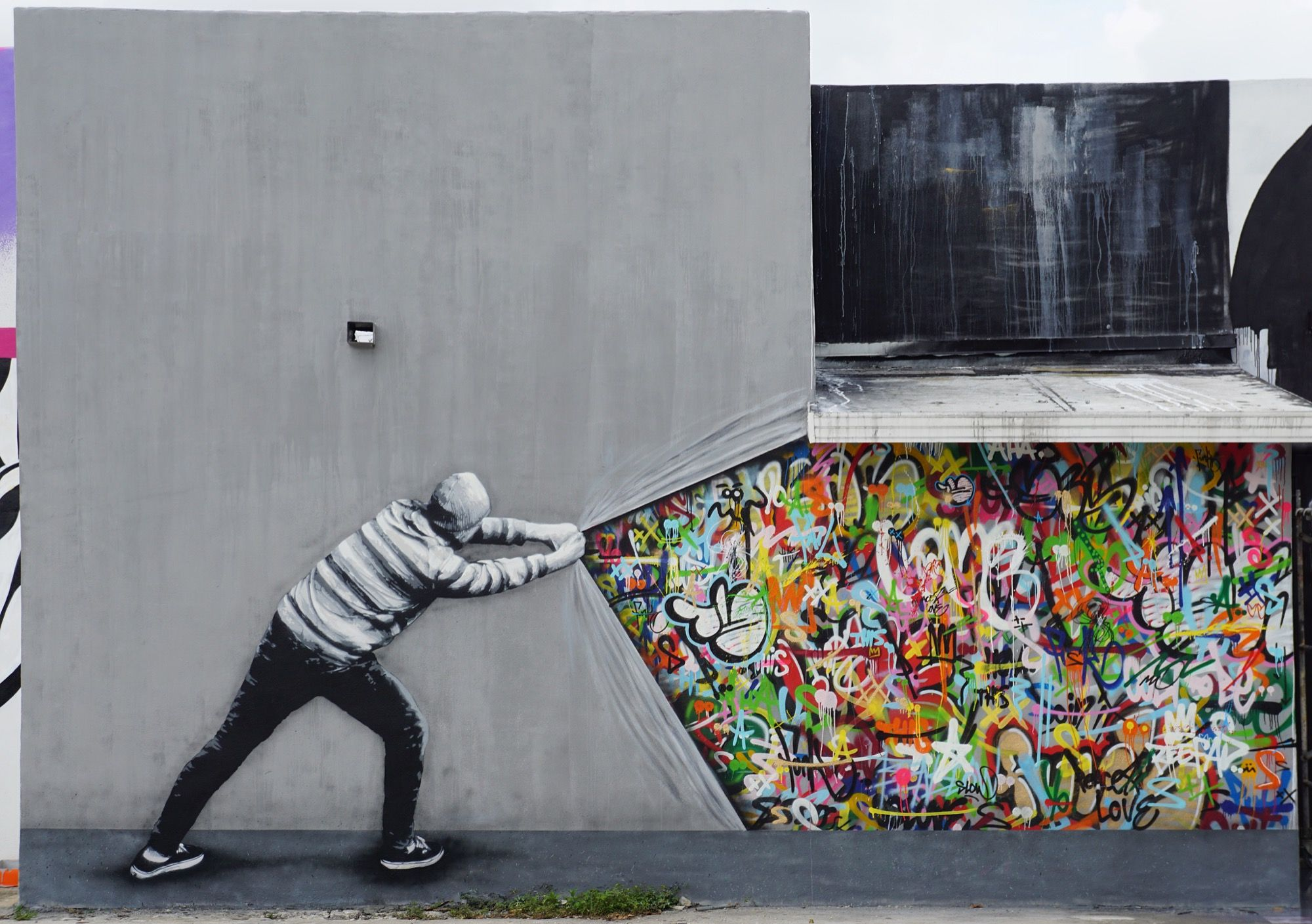 Behind The Curtain By Martin Whatson In Miami Best Street Art