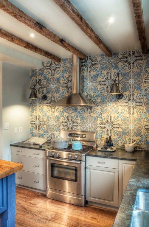 Backsplash | pretty | Pinterest | Cocinas, Piso mosaico y Cocinas ...