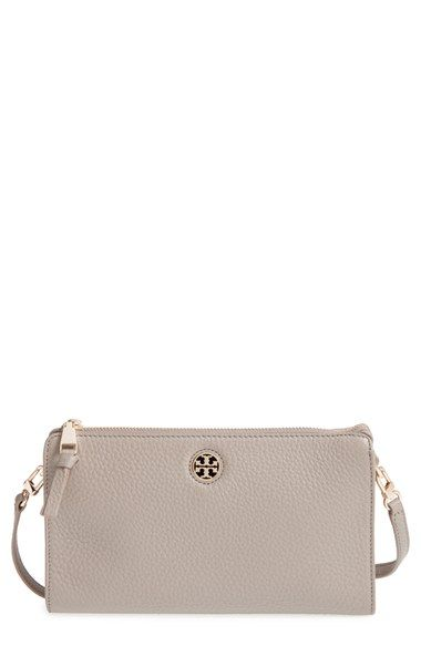 ca88f99f1b0 Free shipping and returns on Tory Burch  Robinson  Pebbled Leather Crossbody  Wallet at Nordstrom.com. Pebbled leather in neutral hues